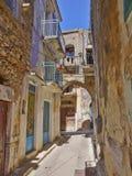 Pittoresk gränd, Chios ö Arkivbilder