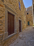 Pittoresk gränd, Chios ö Royaltyfri Fotografi