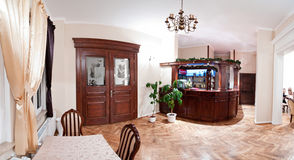 pittoresk hotelllobby Arkivbild