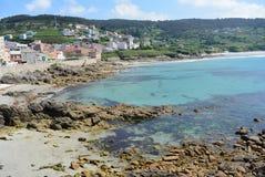 Pittoresk by i nordligt spanskt litoralt Royaltyfri Fotografi