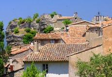 Pittoresk by i Provence Arkivbilder