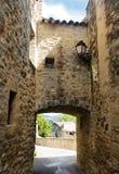 Pittoresk by i region av Luberon, Frankrike Arkivfoto