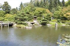 Pittoresk japanträdgård Royaltyfri Fotografi