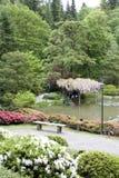Pittoresk japanträdgård Arkivfoton