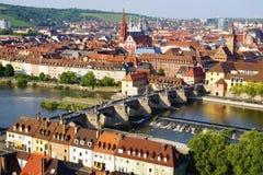 Pittoresk liggande med Wurzburg, Tyskland royaltyfri bild