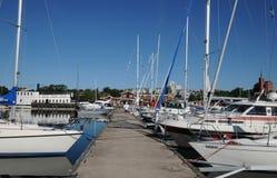 Pittoresk port av Nynashamn Royaltyfri Foto