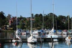 Pittoresk port av Nynashamn Arkivbilder