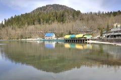 pittoresk ritsa för abkhazia lakeliggande Royaltyfri Foto