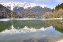 pittoresk ritsa för abkhazia lakeliggande Royaltyfri Fotografi