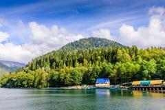 pittoresk ritsa för abkhazia lakeliggande Royaltyfri Bild