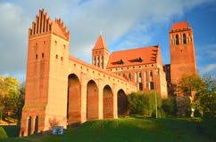 Pittoresk sikt av den Kwidzyn domkyrkan i den Pomerania regionen, Polen Fotografering för Bildbyråer