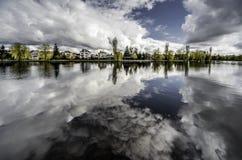 Pittoresk sikt av den Netta floden royaltyfri foto