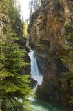 pittoresk snabb vattenfall Arkivfoton