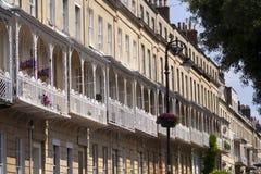 Pittoresk stad av Bristol - Clifton Village arkitektur Royaltyfri Foto