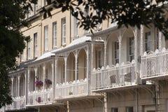 Pittoresk stad av Bristol - Clifton Village arkitektur Arkivbilder
