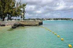 Pittoresk stad av den storslagna fjärden i Mauritius Republic Arkivbilder