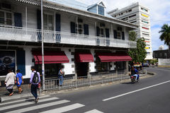Pittoresk stad av Port Louis i Mauritius Republic Royaltyfri Bild