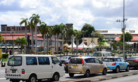 Pittoresk stad av Port Louis i Mauritius Republic Royaltyfria Foton