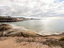 Pittoresk strand för El Duque i Costa Adeje Royaltyfria Foton