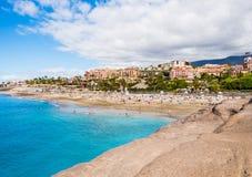 Pittoresk strand för El Duque i Tenerife Fotografering för Bildbyråer