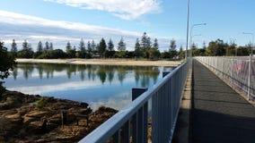 Pittoresk Tallebudgera liten vik, Gold Coast, Australien Fotografering för Bildbyråer