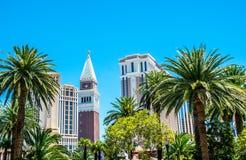 Pittoresk turist Las Vegas Byggnader på remsagatan, Las Vegas, Nevada Arkivbilder