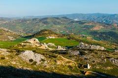 Pittoreska exempel av karstlandskapet, El Torcal de naturliga Antequera parkerar, Spanien Arkivfoton