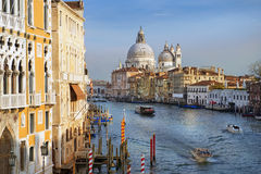 Pittoreska Grand Canal av Venedig, Italien, Europa Arkivfoto