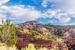 Pittoreska landskap av Arizona, Vagga-monument Resa till och med reserverna av sydvästerna av USA Royaltyfri Foto