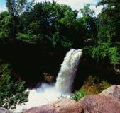 Pittoreska Minnehaha nedgångar - Minneapolis, MN Royaltyfria Foton