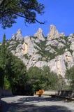 Pittoreska Montserrat Mountain, Spanien Arkivfoto