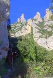 Pittoreska Montserrat Mountain, Spanien Royaltyfri Bild