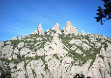 Pittoreska Montserrat Mountain, Spanien Arkivbild