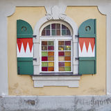 Pittoreskt fönster, Bamberg, Tyskland Arkivfoton