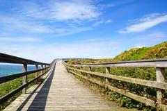 Pittoreskt landskap med bron spain Royaltyfri Foto