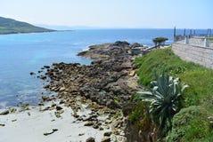 Pittoreskt litoralt i nord av Spanien Royaltyfri Fotografi