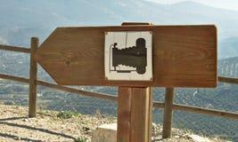 Pittoreskt tecken Fotografering för Bildbyråer