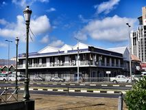 Pittoresque殖民地大厦在路易港毛里求斯 免版税库存图片