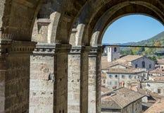 Pittoresque-Blick einer Kleinstadt Lizenzfreie Stockfotos
