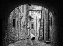 Pittoresque-Blick einer Kleinstadt Stockfotos