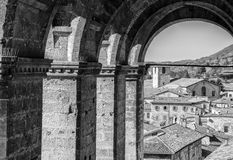 Pittoresque-Blick einer Kleinstadt Lizenzfreies Stockbild