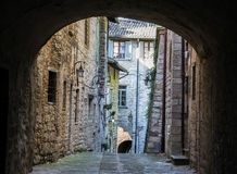 Pittoresque glimpse of a small town. Royalty Free Stock Image