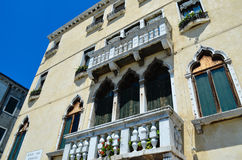 Pittoresque terrace in Venice,Italy Stock Photo
