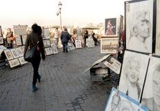 Pittori della via Fotografie Stock Libere da Diritti