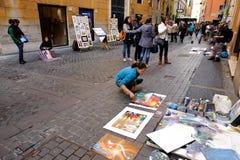 Pittori della via Fotografia Stock