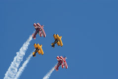 Pitts aerobatic biplanes Stock Image