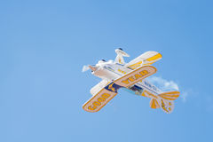 Pitts Special inverted fly-by Stock Photo