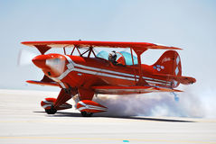 Pitts Turns on the Smoke Royalty Free Stock Image