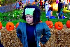 Pittsboro, OR : Garçon dans le costume de Frankenstein Images libres de droits
