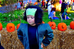 Pittsboro, NC: Boy In Frankenstein Costume Royalty Free Stock Images
